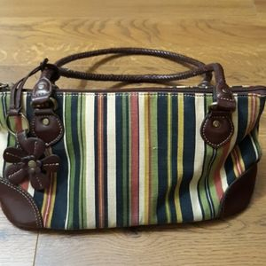 Relic Striped purse with Leather Trim